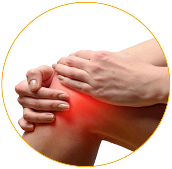 Снижает боль и жесткость в коленах